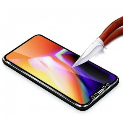 Hat - Prince 3D Hook Face Protective Film for iPhone X - BLACK