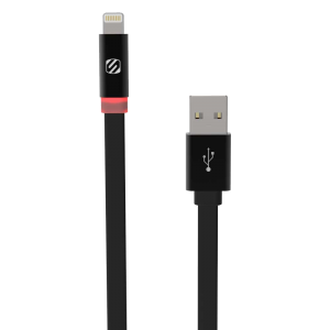 Scosche flatOUT LED 6ft. Charge and Sync Cable for Lightning Devices - Black