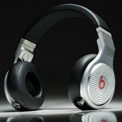 Beats By Dr Dre Pro High Performance Headphones white diamond black