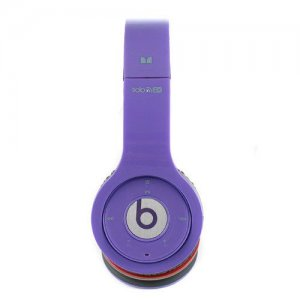 Beats By Dr Dre Solo Wireless Bluetooth Over-Ear Purple Headphones
