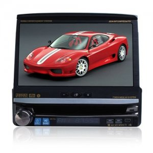 7 Inch In-Dash LCD Screen 1 Din Car DVD Player - PIP + GPS + TV