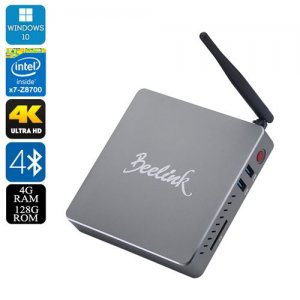 Beelink BT7 Windows 10 Mini PC- Intel Atom X7-Z8700 Quad Core CPU, Bluetooth 4.0, Wi-Fi, 4K Support, 4GB RAM + 128GB Memory