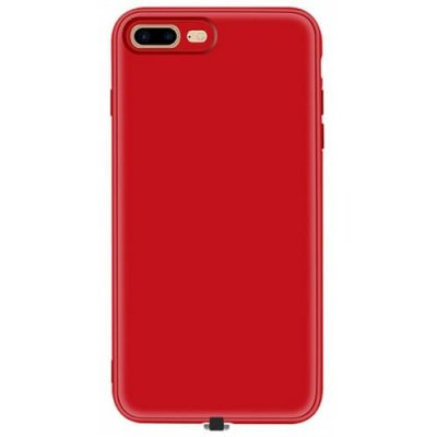 Multi-function Wireless Charging Receiver Case for iPhone 7 Plus - RED