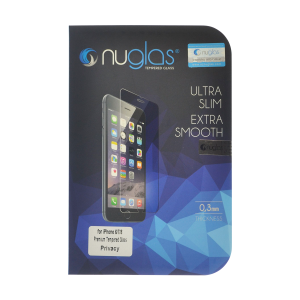 NuGlas Tempered Glass Privacy Screen Protector for iPhone 7/8 (2.5D)