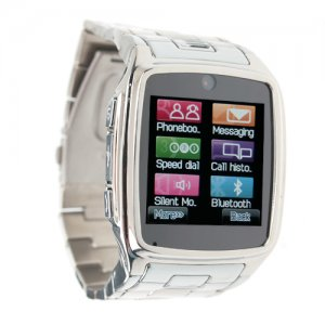 TW810 Watches Style Cell Phone IPS Screen Bluetooth Java Camera Silver