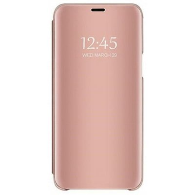 Case for Samsung Galaxy Note 9 Mirror Flip Leather Clear View Window Smart Cover - ROSE GOLD