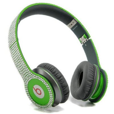 Beats By Dr Dre Solo HD studded diamond Headphones Green