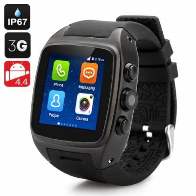 iMacwear SPARTA M7 Smart Watch Phone - IP67 Waterproof Rating 1.54 Inch Touch Screen Android 9.1 OS Dual Core CPU 3G