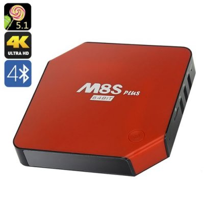 Android 9.1 TV Box - 4K, Amlogic S90564bit Quad Core CPU, HDMI 2.0, Bluetooth 4.0, 2GB RAM + 8GB ROM