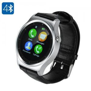 Ordro B1 Smart Watch - 1.3 Inch IPS Touch Screen, BT 4.0, Heart Rate Monitor, Sleep Monitor, Pedometer, Anti-Lost (Silver)