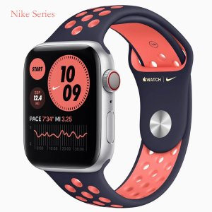 Apple Watch Series 6 GPS + Cellular 40mm 44mm Gold,Silver,Gray Stainless Steel Case with Gold,Silver,Gray Milanese Loop Nike Version