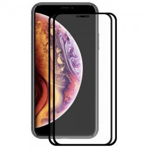 Hat - Prince 2.5D 0.2mm 9H Tempered Glass Full Screen Protector for iPhone XR 2pcs - BLACK