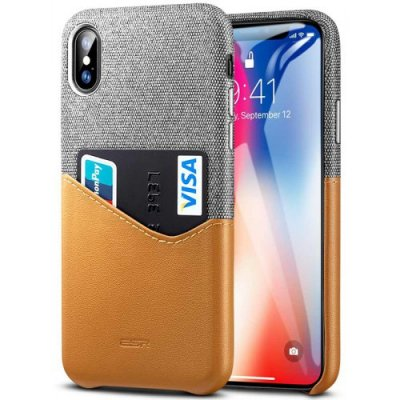 ESR Shatter-resistant Mobile Phone Case for iPhone X - BROWN SUGAR