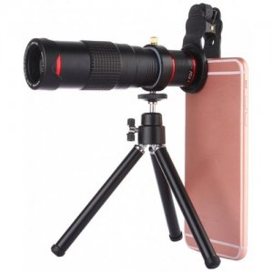 22x Universal Dual Adjustment Mobile Phone Telephoto Lens Multi-layer Coating Tripod - BLACK