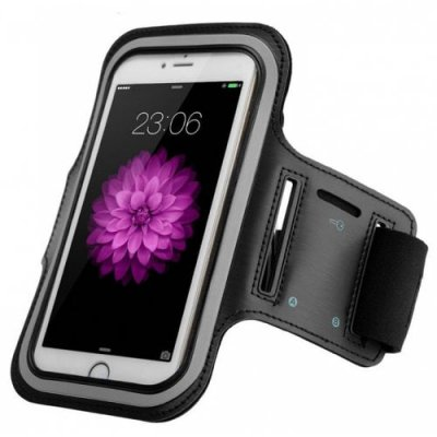 Sports Armband Waterproof Case Cover for iPhone 12 - 6S - BLACK