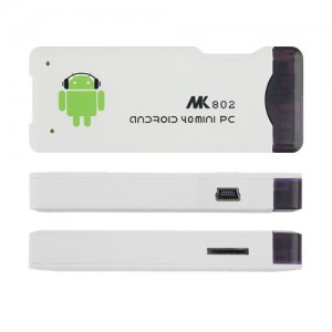 MK802 Mini Android PC Android TV Box Android 9.1 A10 1G RAM HDMI TF 4GB- White