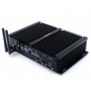 HYSTOU P04 I3 7100U Fanless Mini PC - BLACK