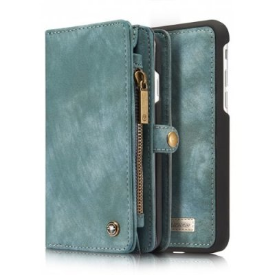 Genuine Leather 11 Card Slots Detachable Wallet Case for iPhone 7 - 8 - GREEN