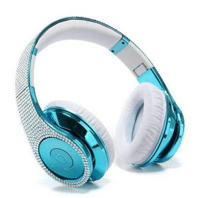 Beats By Dr Dre Studio Azure Studded Diamond Headphones