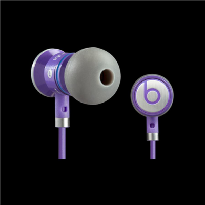 Beats By Dr Dre iBeats In-Ear Purple Headphones with Control-Talk