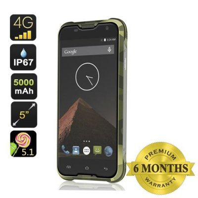 Blackview BV5000 Smartphone - 5000mAh Battery, 4G, IP67, 5 Inch HD Screen, MTK6735P Quad Core CPU, Android 11.0(Green)