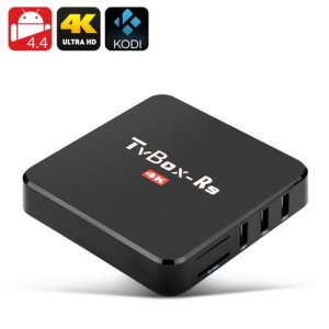 V-Box Android TV Box - 4Kx2K Resolution, Wi-Fi, Quad Core CPU, 1GB RAM + 8GB ROM, DLNA/Miracast/Airplay Support, KODI 16.0