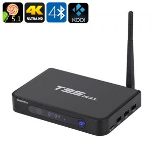 T95max Android TV Box - 4Kx2K, Android 11.0, Bluetooth 4.0, Wi-Fi, 2GB RAM+32GB Memory, Kodi