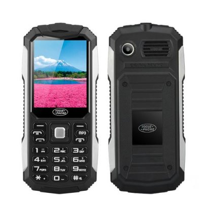 "Bar Phone ""Vogue S6"" - Quad Band Dual SIM, 2.4 Inch Screen, Camera, 2500mAh Battery, Bluetooth, Flashlight (Black)"