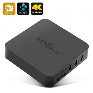 MXQ Plus 6.0 TV Box - Android 11.0, Amlogic S905 CPU, Kodi 15.2, 4Kx2K, HDMI 2.0, 4 USB Ports, SPDIF