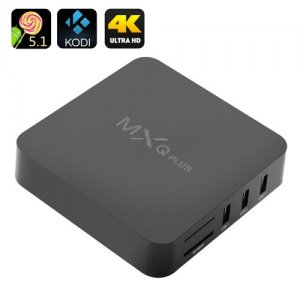 MXQ Plus Android 9.1 TV Box - Amlogic S905 Quad Core CPU, HDMI 2.0, Kodi, 4Kx2K, 4 USB Ports, SPDIF