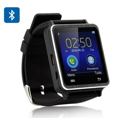 Iradish i7 Smartwatch - 1.54 Inch Touchscreen, Pedometer, Sleep Monitor, Anti Lost, SMS + Phonebook Sync (Black)