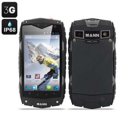 MANN ZUG 3 Waterproof Smartphone - Android 11.0 OS, 4 Inch Display, Shockproof, Dust Proof (Grey)