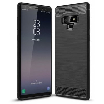 Case for Samsung Galaxy Note 9 Shockproof Back Cover Solid Color Carbon Fiber - BLACK