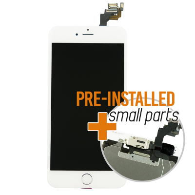 iPhone 6 Plus Display Assembly with Small Parts - White/Silver (Aftermarket)