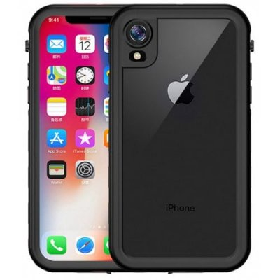 Waterproof Dustproof Mobile Phone Case for iPhone XR - BLACK