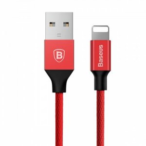 Baseus Yiven 8 Pin Data Charging Braided Cable 1.8M for iPhone XS - XR - XS MAX - RED