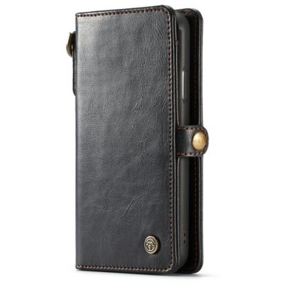 CaseMe Card Slot Cash Compartment Wallet Leather Phone Case for iPhone XS Max - BLACK
