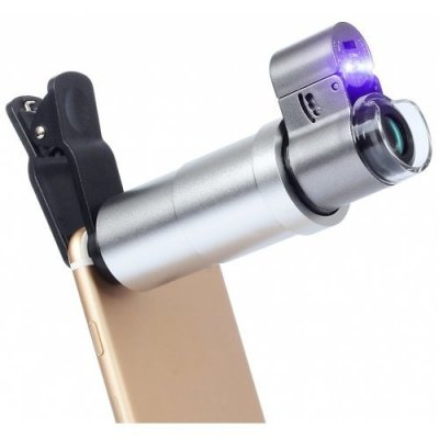 APEXEL APL-200XM Universal 200x Zoom Microscope Magnifier Macro Lens for iPhone - SILK WHITE