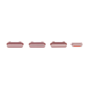 iPhone 6s Rear Case Button Set - White/Rose Gold