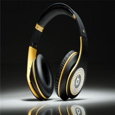 Beats Studio Headphones Black Yellow With Diamond Edition