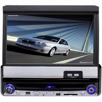 7 Inch Single DIN Touch Screen Car DVD Player + FM + TV Function