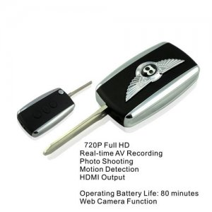 Full HD 720P Motion Detected Car Keychain Camcorder Spy Camera Hidden with HDMI Output and TF Card Slot
