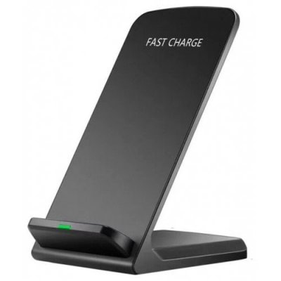 Qi Wireless Fast Charger Charging Stand Dock Pad for Samsung Galaxy S8 - S8+ - Note 8 iPhone X - 12 Pro Max 8 - BLACK