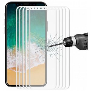 Hat - Prince 3D Hook Face Tempered Glass for iPhone X 5pcs - WHITE