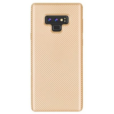Cover Case for Samsung Galaxy Note 9 Carbon Silicone Rubber Soft TPU - GOLD
