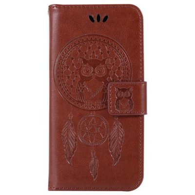 For Samsung S7 Dandelion Embossed Protective Cover - LIGHT BROWN