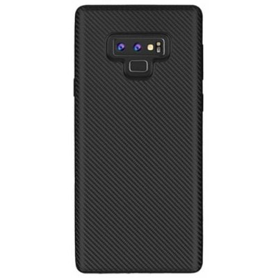 Case for Samsung Galaxy Note 9 No Fingerprints Back Cover Fiber Pattern Soft TPU - BLACK