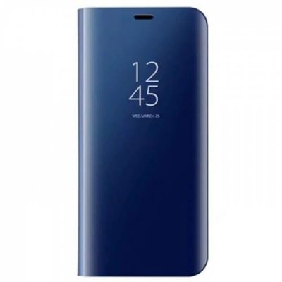 For Samsung Galaxy S8 Smart Sensor Mirror Stand Cover Case Screen Protection - COBALT BLUE