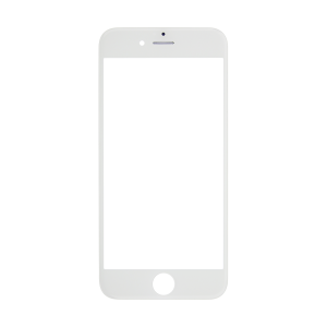 iPhone 6s Glass Lens Screen and Front Frame - White (Hot Melt Glue)