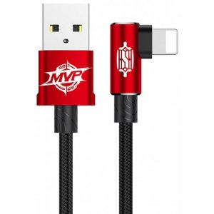 Baseus MVP Elbow Type 8 Pin 2A Charging Data Sync Cable 1M - RED